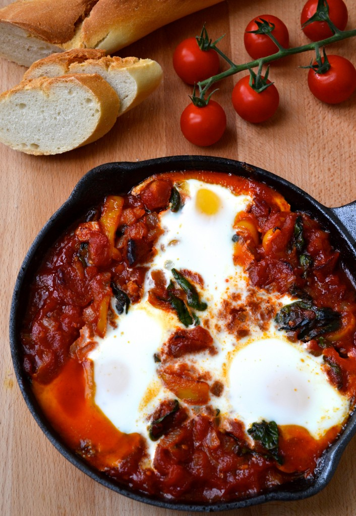 Spicy Tomato Baked Eggs