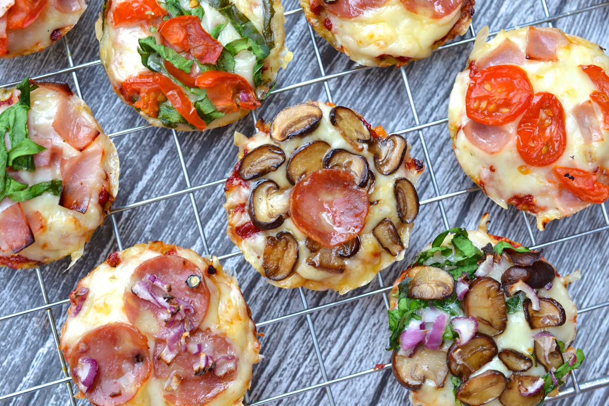 Mini Cauliflower Pizza Bites Recipe — Dishmaps