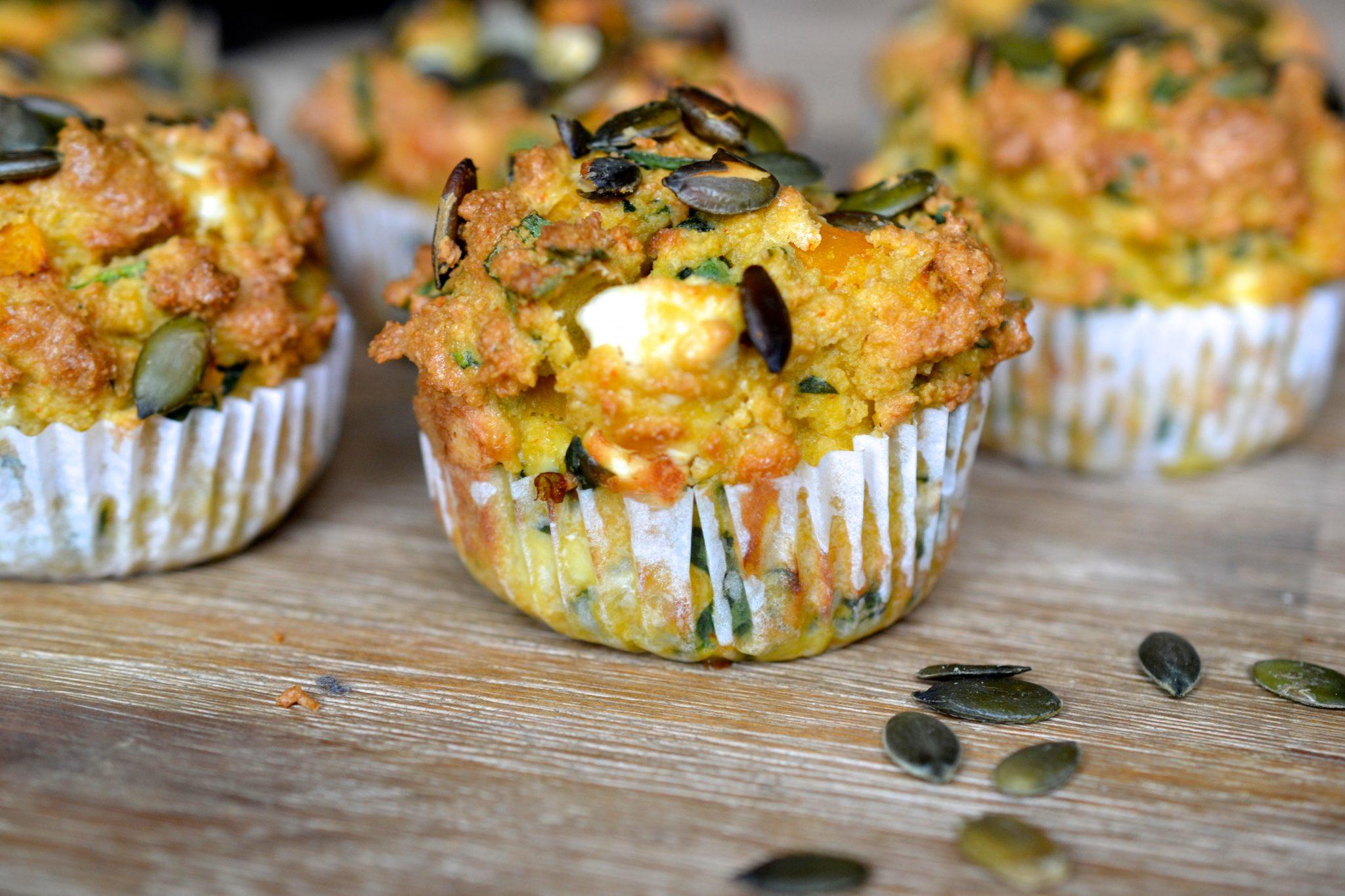Butternut Squash, Spinach & Feta Muffins | Every Last Bite