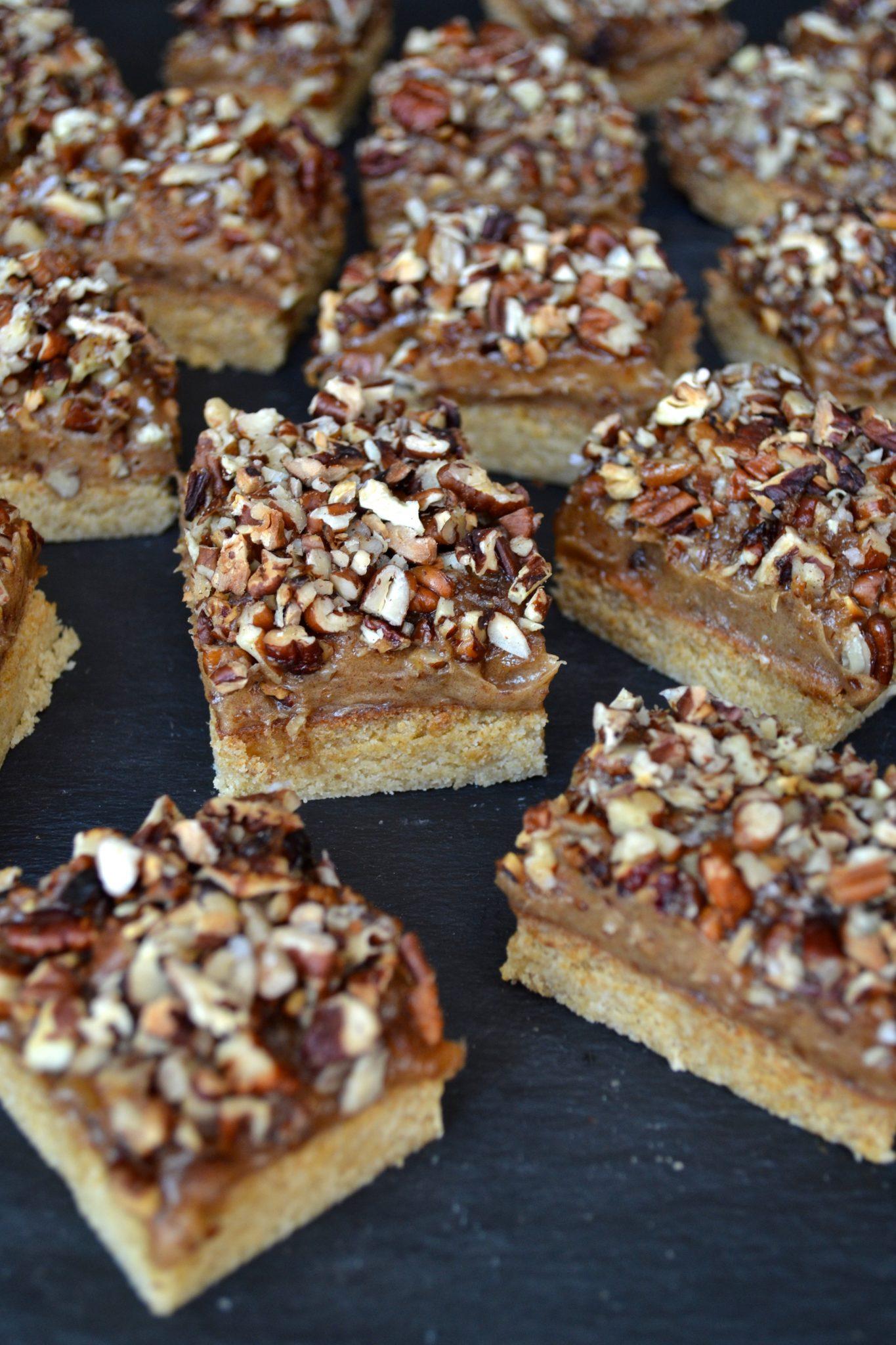 Pecan & Caramel Shortbread Bars | Every Last Bite