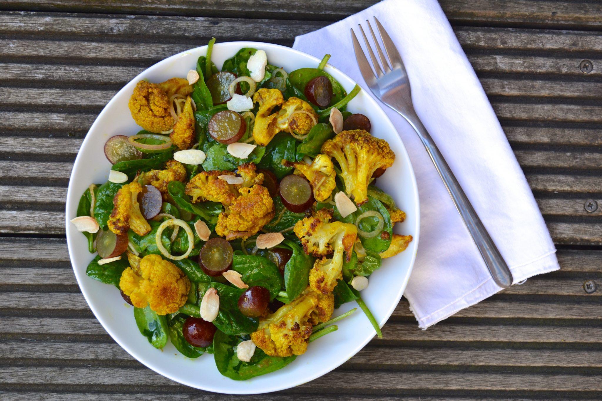 recipe: spinach and cauliflower bhaji [11]