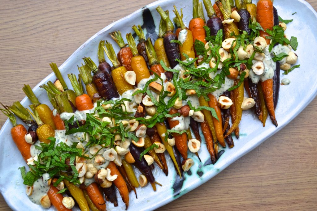 Roasted Carrots w/ Mint & Tahini Sauce | Every Last Bite