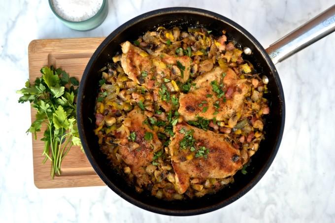 Chicken with Mushrooms & Pancetta