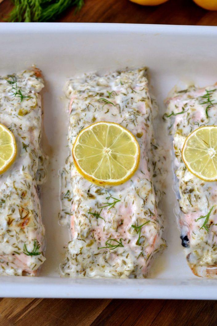 Mayonnaise Salmon