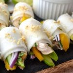 Chicken, Avocado and Mango Daikon Rolls