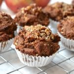Apple Cinnamon Muffins Topped with Pecans