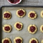 Lemon & Raspberry Thumbprint Cookies