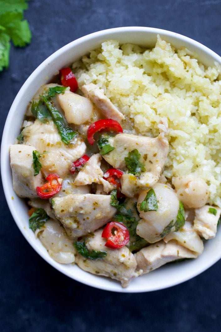 Chicken and Lychee Green Curry