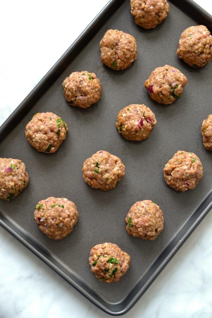 Greek Lamb Meatballs