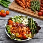 Sundried Tomato Chicken, Roasted Beans and Feta Salad