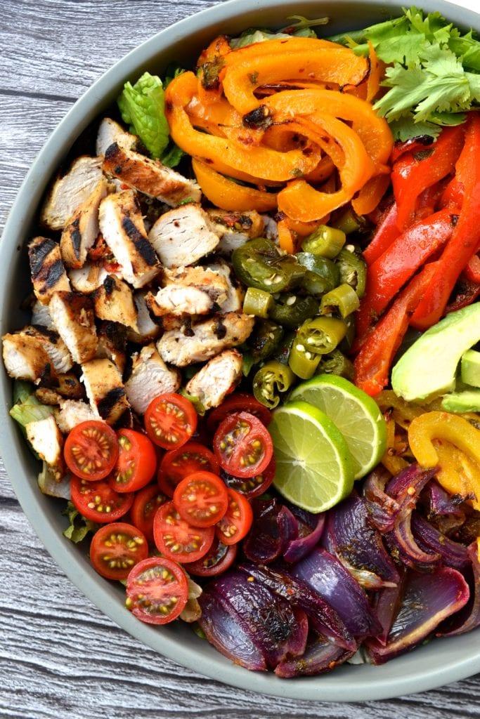 Chicken Fajita Salad Every Last Bite Healthy Grain Free