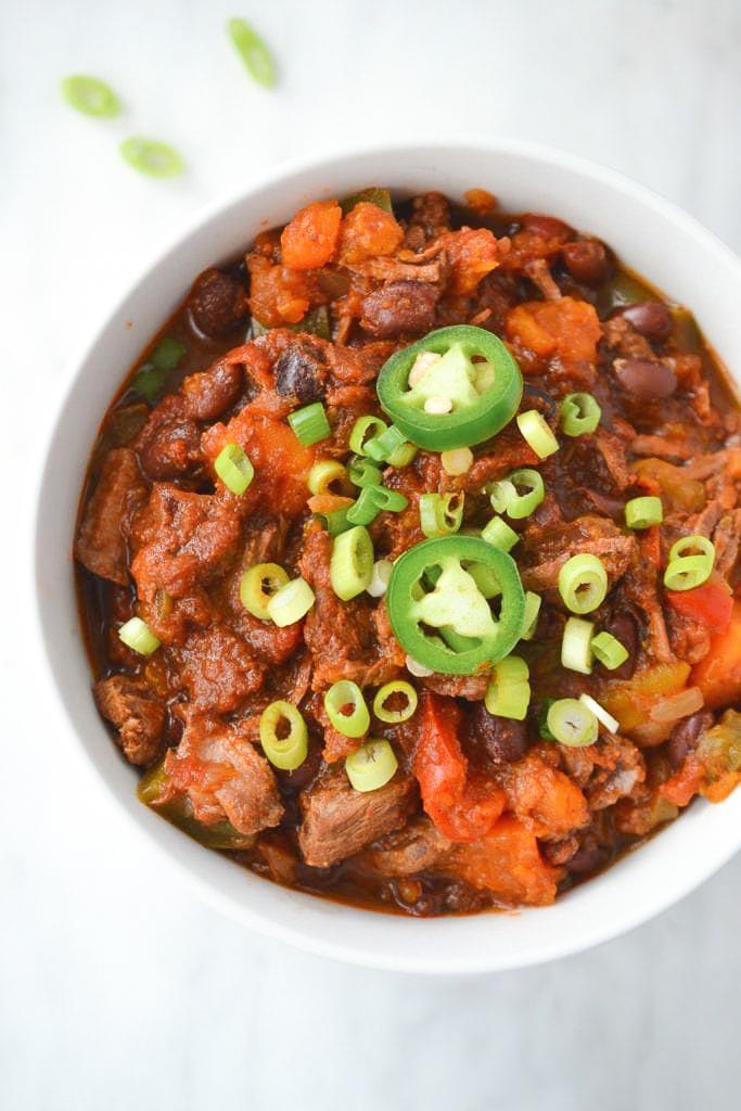 Paleo brisket chili