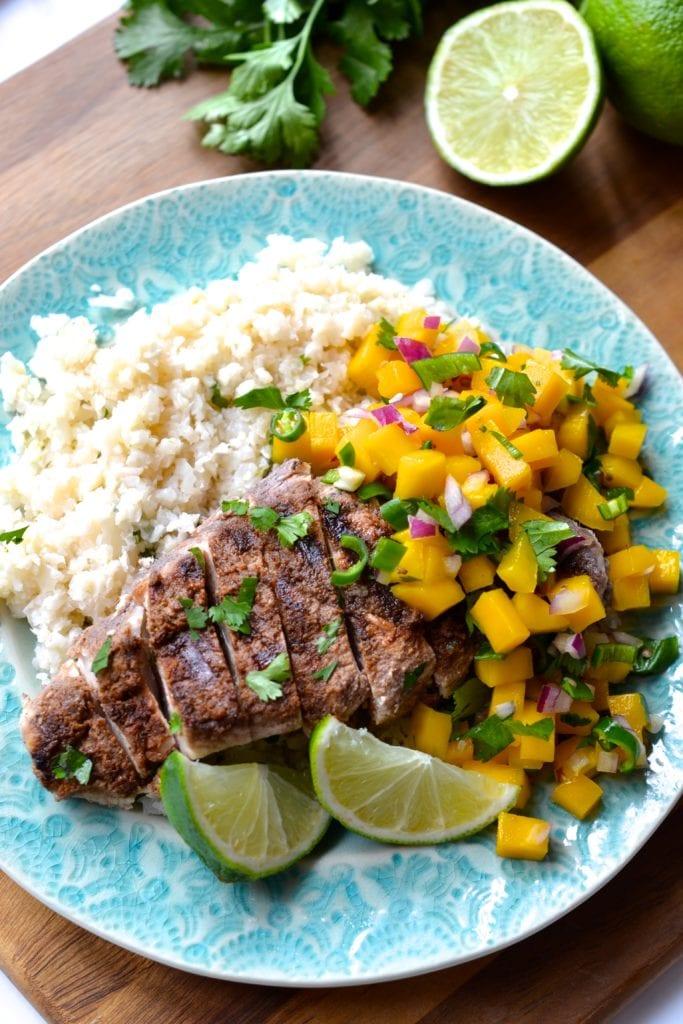 Jerk Chicken With Mango Salsa | Every Last Bite