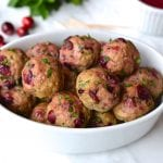 Turkey & Cranberry Meatballs with Cranberry Orange Sauce