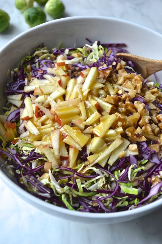 Brussels Sprout & Apple Slaw