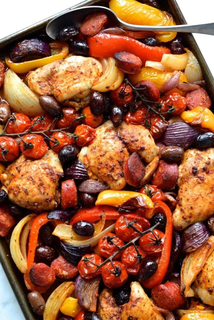 Spanish Chicken Traybake