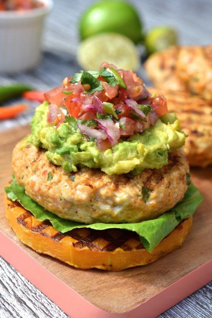 Mexican Chicken Burger