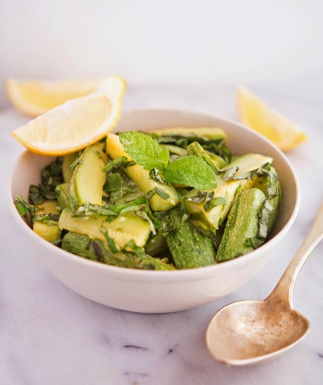 Zucchini with Basil, Mint & Lemon