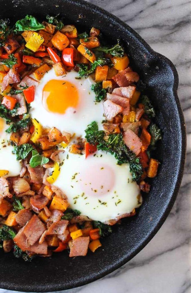 Bacon, Kale & Sweet Potato Hash