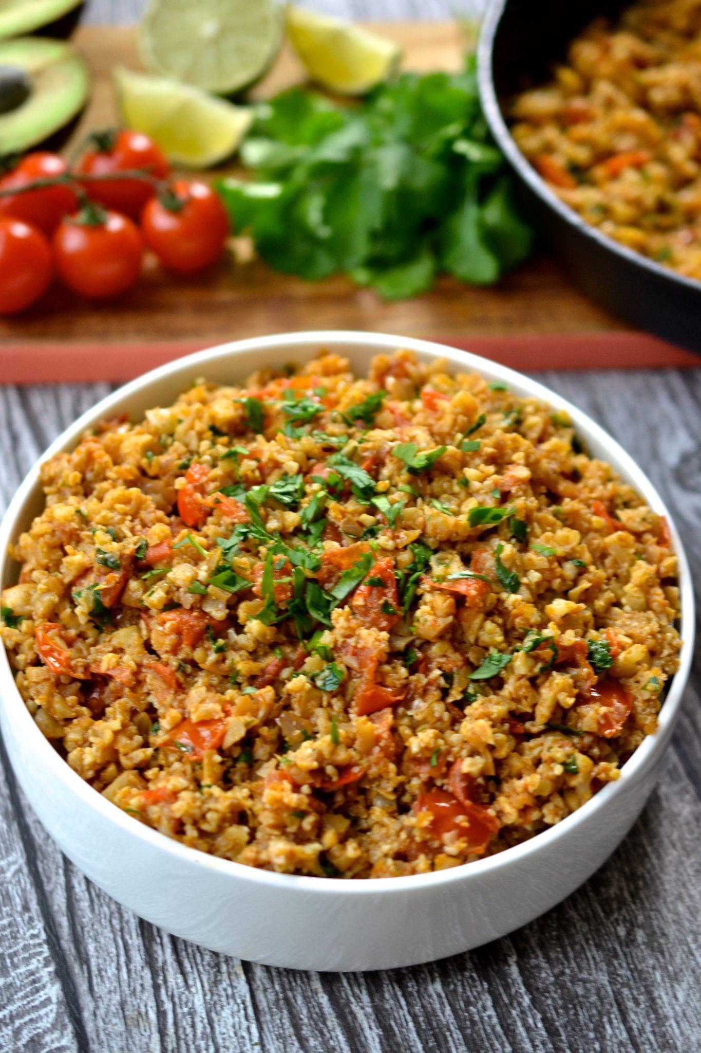 Mexican Cauliflower Rice Grain Gluten Free Paleo Whole30 Vegan