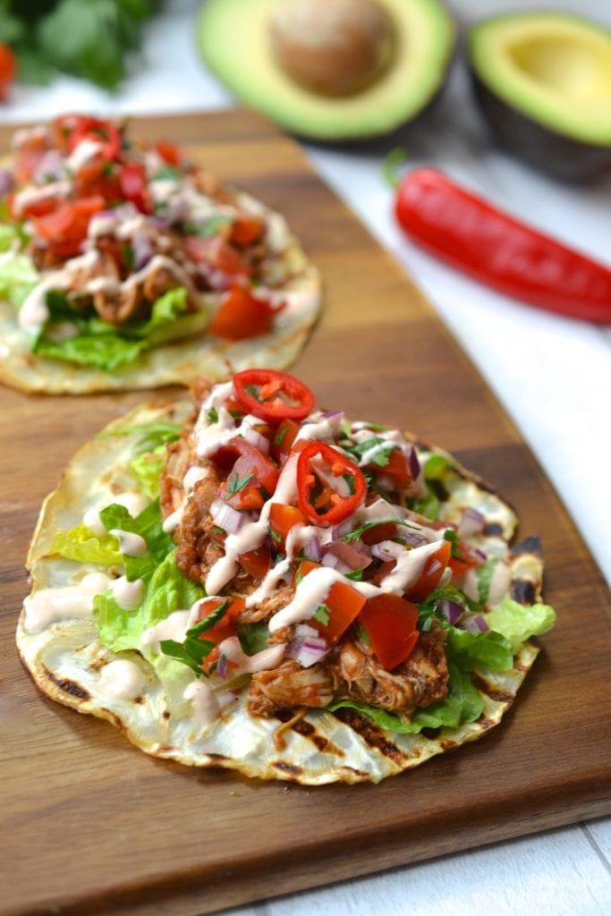 Shredded Chicken Tacos Whole30 Paleo Grain Gluten Free
