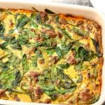 Caramelized Onion, Butternut Squash & Turkey Breakfast Casserole