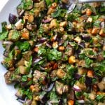 Chopped Eggplant, Almond & Herb Salad