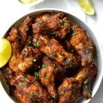Chipotle Chicken Wings with Avocado Crema
