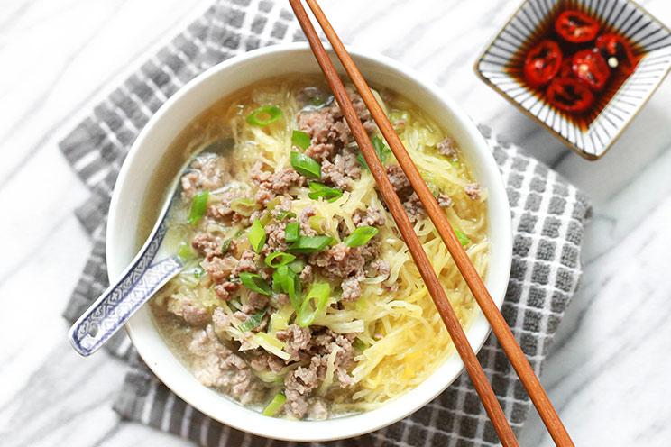 No Noodle Beef & Spaghetti Squash Soup