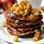 Apple Cinnamon Pancakes Topped with Stewed Apples
