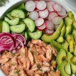 Salmon, Avocado & Radish Salad with Creamy Dill Dressing