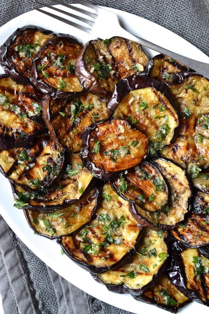 Garlic Herb Grilled Eggplant Paleo Whole30 Every Last Bite,Purple Cleome Flower