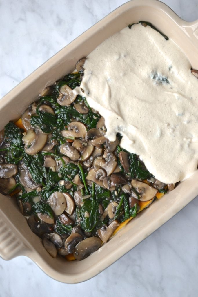 creamy spinach  mushroom lasagna  every last bite