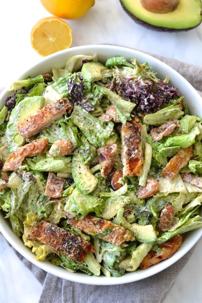 Caesar Salad with Tahini Dressing