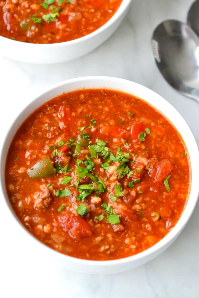 Whole30 Stuffed Pepper Soup