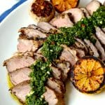 Roasted Butterflied Leg of Lamb with Mint Chimichurri
