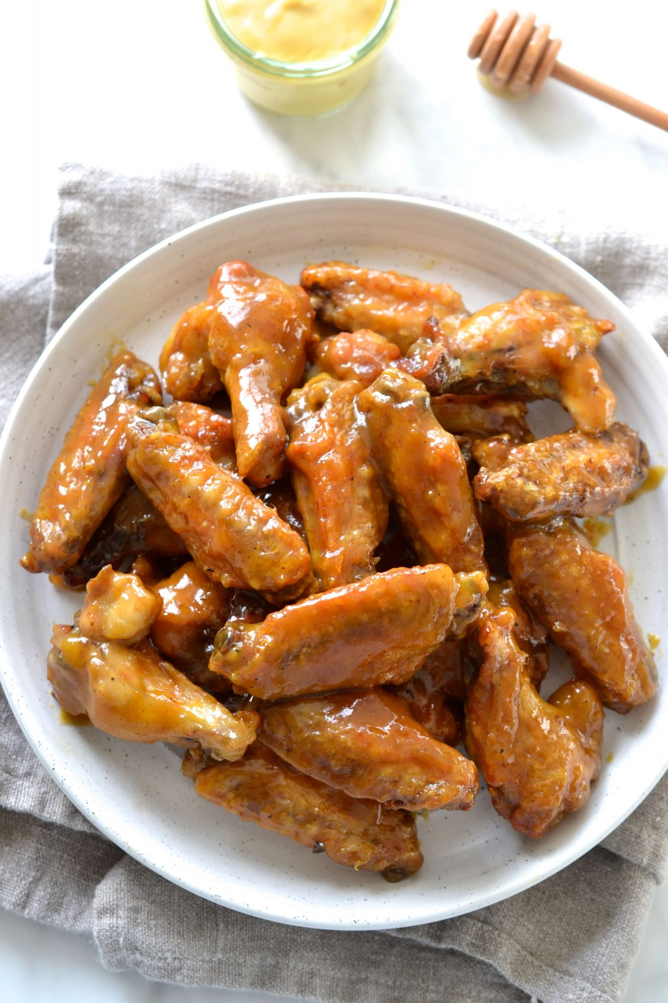 Honey Mustard Chicken Wings Paleo Scd Every Last Bite