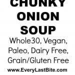 Chunky onion soup