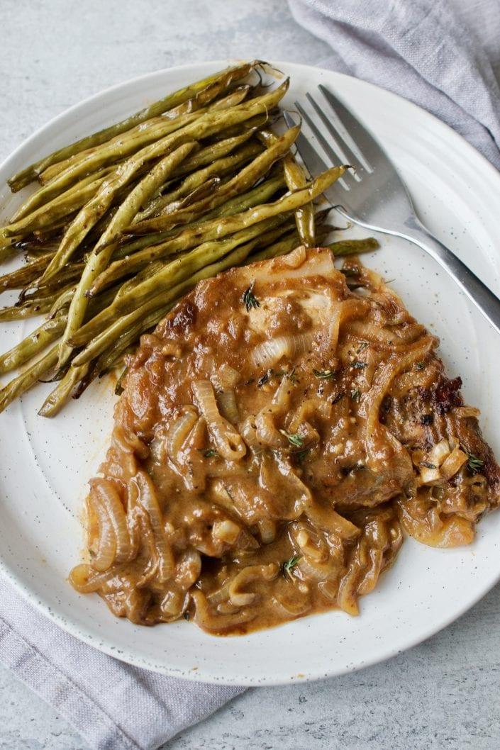 Caramelized Onion Pork Chops