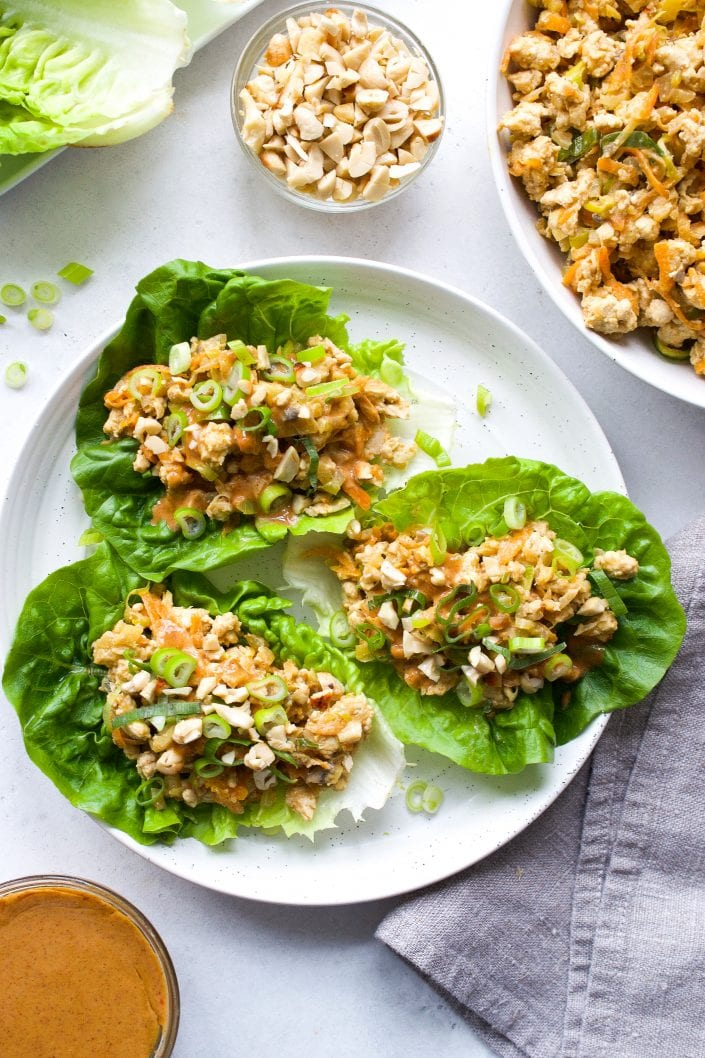 Paleo Chinese Chicken Lettuce Wraps