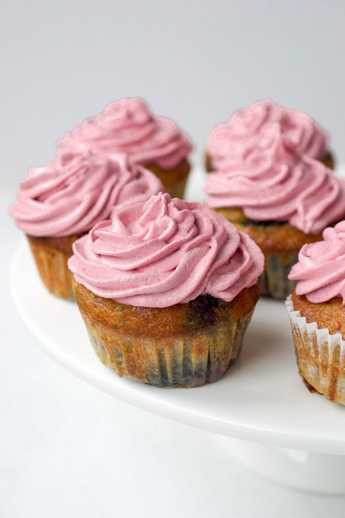 Triple Berry Cupcakes