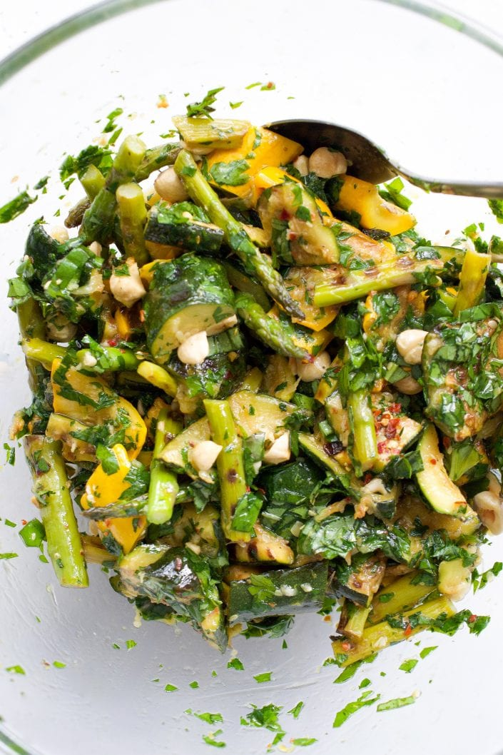 Grilled Zucchini & Asparagus Salad