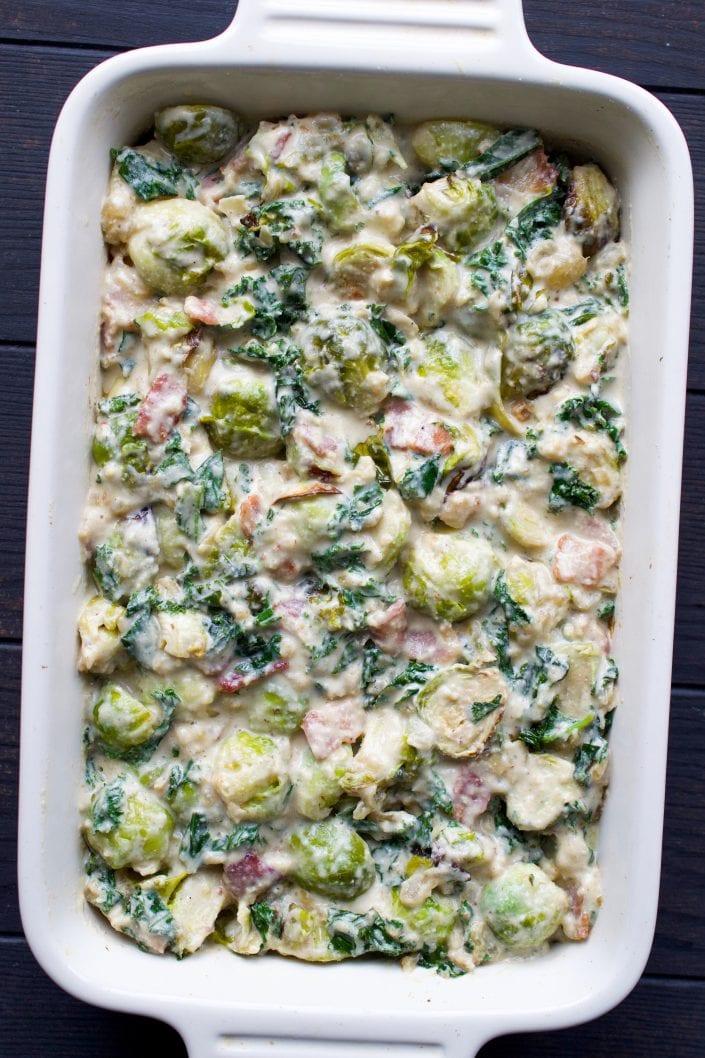 Vegan Brussels Sprout Gratin