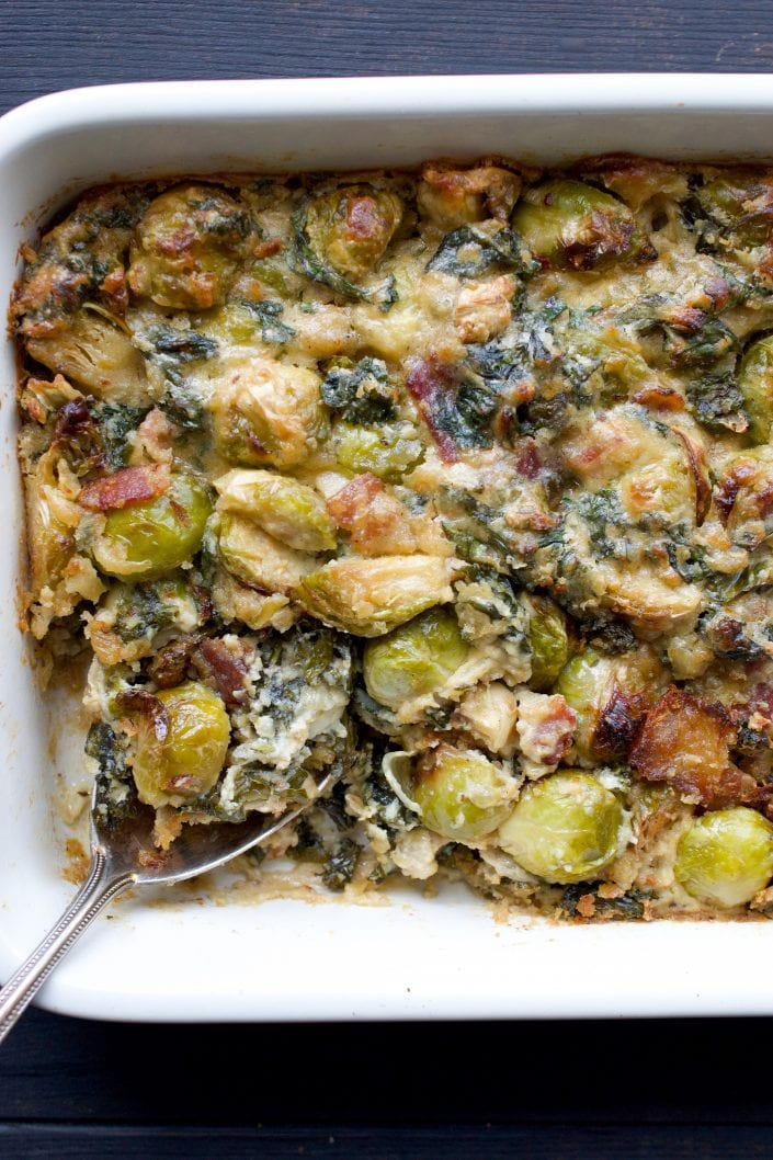 Paleo Brussels Sprout Gratin