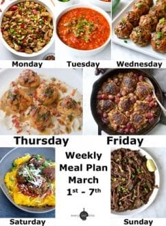Weekly Meal Plan March 1-7