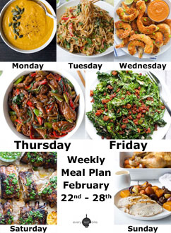 Weekly Meal Plan: February 22nd-28th