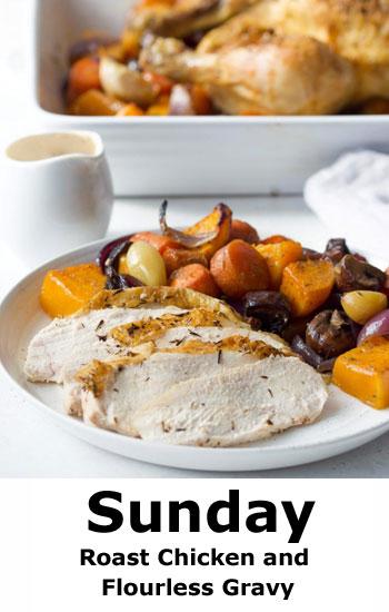 Roast Chicken and Flourless Gravy