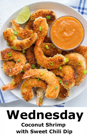 Coconut Shrimp with Sweet Chili Dip