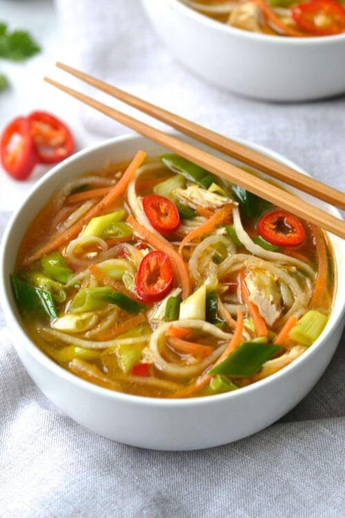 Asian Chicken & Noodle Soup