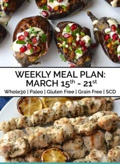 Weekly Meal Plan March 15-21